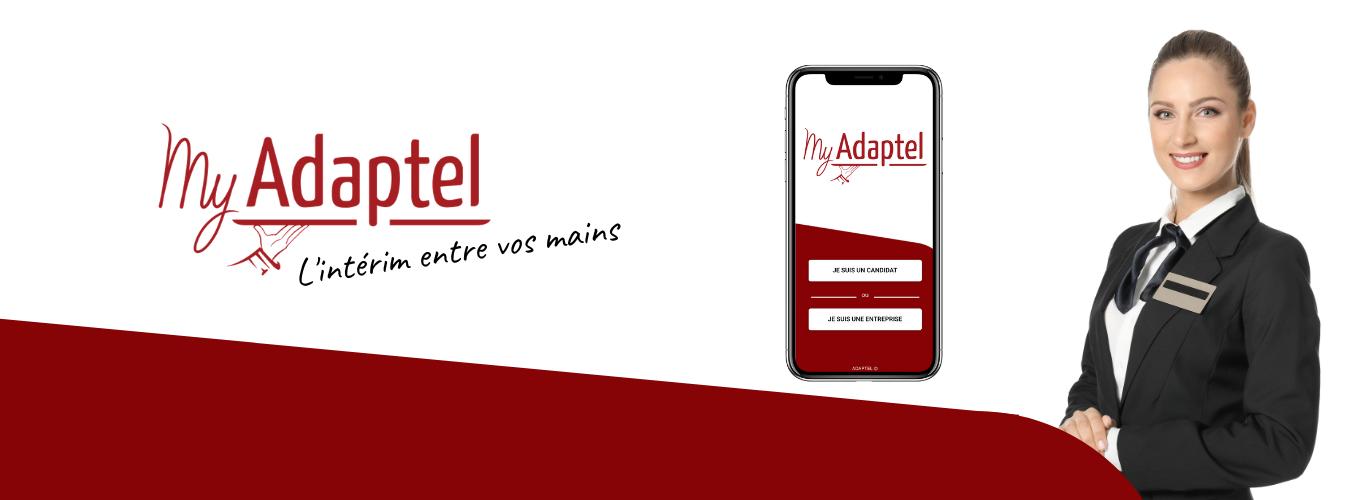 Application My Adaptel - intérim en Normandie
